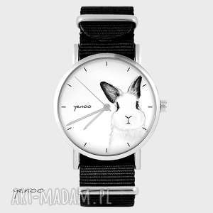 zegarek, bransoletka - królik czarny, nato, bransoletka
