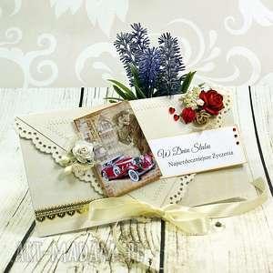 kartka z okazji ślubu - różane retro, ślub, ślubna, wesele, kartka, koperta