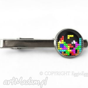 Tetris - Spinka do krawata - ,tetris,klocki,spinka,krawata,gra,prezent,