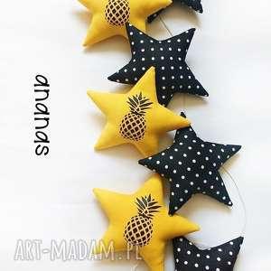 ananas - girlanda - ananas, gwiazdki, gwiazdka, girlanda
