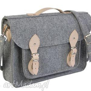 handmade filcowa torba - personalizowana z grawerowaną dedykacją logo lub
