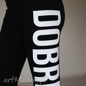 efektowne legginsy getry spodnie z nadrukiem, legginsy, spodnie, fajne, bawełniane