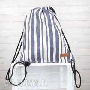 handmade plecaki plecak worek w paski