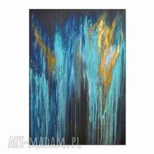 Głębia 32, abstrakcja, nowoczesny obraz ręcznie malowany