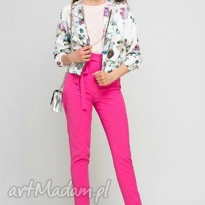 elegancka bluzka z krótkim rękawem, blu133 róż, lekka, różowa, letnia, casual
