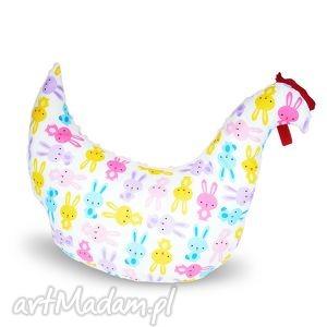 ręczne wykonanie pokoik dziecka poduszka kura magiczne króliczki