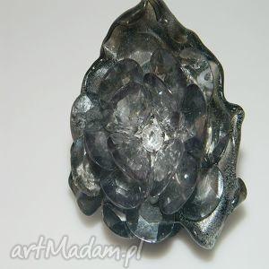 artystyczny pierścionek, recycling, akryl, odzysk
