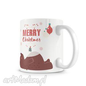 handmade prezenty na święta kubek - merry christmas