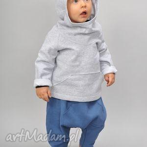 szara bluza bawełniania z kapturkiem i kangurką, bawełna, kaptur, kangurka