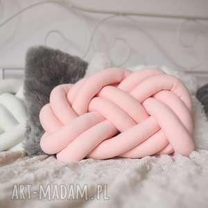ręcznie pleciona dekoracyjna poduszka supeł precel knotpillow 35x25