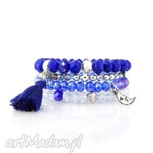 zestaw bransoletek - royal blue set, zestaw, bransoletek, bransoletki, set