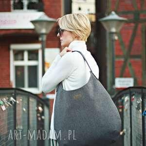 musslico torba worek grafitowy melanż, na ramie, worek, duza