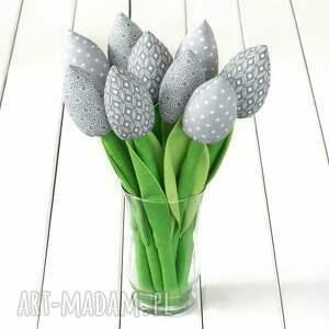 dekoracje tulipany szary bawełniany bukiet, kwiaty, tulipany, hygge, bukiet
