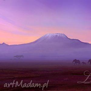 obraz - afryka 3 płótno natura, pejzaż, słonie, obraz, afryka, afrykański, pejzaż