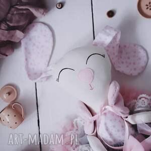 handmade maskotki róża króliczek baletnica