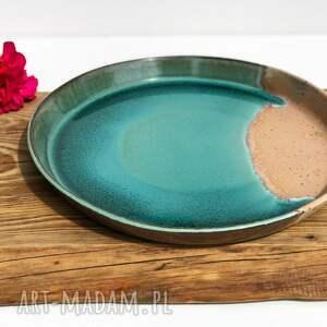 ceramika tyka patera - taca talerz z wysokim rantem rajska plaża