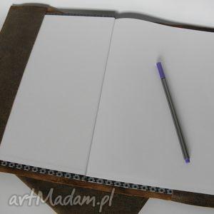 hand-made notesy skórzana okładka na zeszyt / notatnik a4