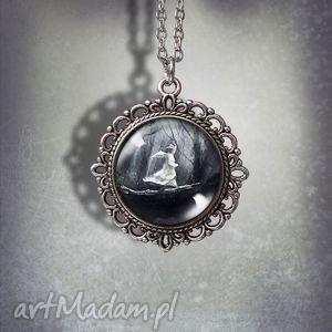 naszyjniki medalion magiczny las - romantyczny, medalion, naszyjnik, oksydowany