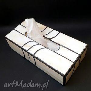 pudełka prezent lususowy pudełko na chusteczki hand made elegancko, chustecznik