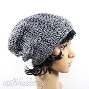 czapka szara, czapka, zima, uszy, głowa, wiatr, dziergane