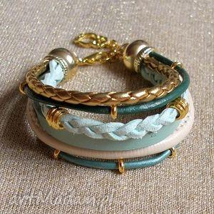handmade bransoleta ombre miętowa