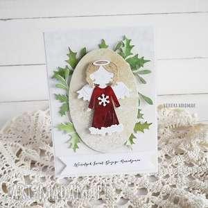 Pomysł na prezent świąteczny? Kartka świąteczna z aniołkiem, 541