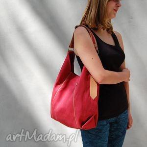 Prezent furia - torba worek czerwona, worek, wygodna, swobodna, prezent, alkantara