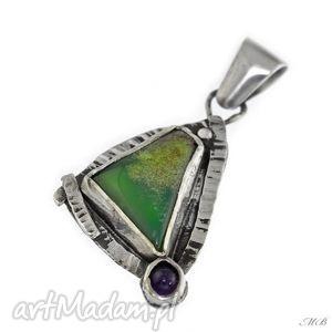 wisiorki chryzopraz, wisior, srebrny, stylowy, oryginalny biżuteria