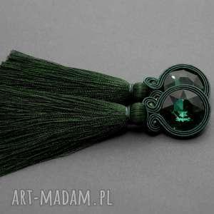 wyjątkowy prezent, klipsy sutasz z chwostem, sznurek, eleganckie, wiszące, wieczorowe