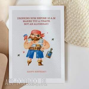 kartka urodzinowa dla mężczyzny pirat cardie, kartka
