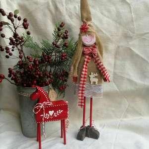 dekoracje świąteczny skrzat stojący drewniany no 2, świąteczny, stojąca
