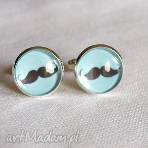 ręcznie zrobione spinki do mankietów moustache - norway