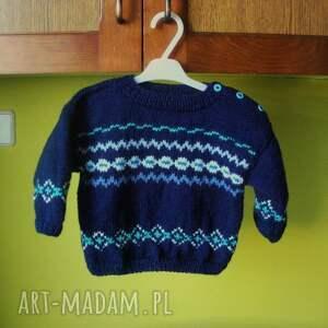 Sweterek Wzorzysty , sweterek, rękodzieło, włóczka