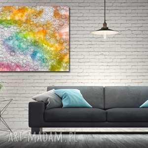 Obraz duże ABSTRAKCJA KOŁA 1 -120x70cm na płótnie kolorowy nowoczesny, obraz