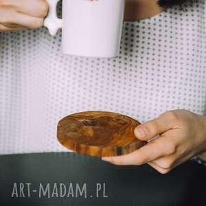 Podstawki drewniane 2 sztuki / Podkładka pod kubek olcha, hygge, rustic, rustykalne