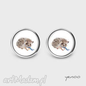 Pomysł na upominek! Kolczyki - jeżyk sztyfty, grafika yenoo