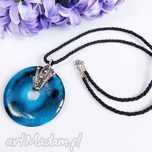 Niebieski agat smoczy - wisior naszyjniki viviart agat