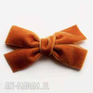 spinka do włosów kokarda velvet bow rust, kokarda, aksamitna, velwet, ozdoby