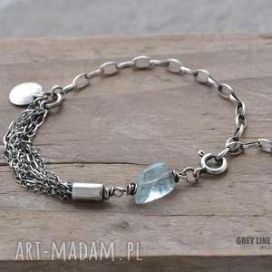 ręcznie zrobione bransoletki bransoletka z akwamarynem i
