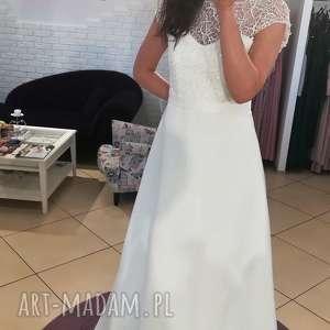 sukienki suknia ślubna model z salonu - wyprzedaż kolekcji rozmiar 38, ślub