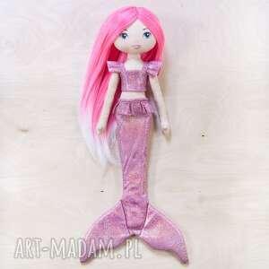 Laleczka syrenka z różowymi włosami lalki poofy cat lalka