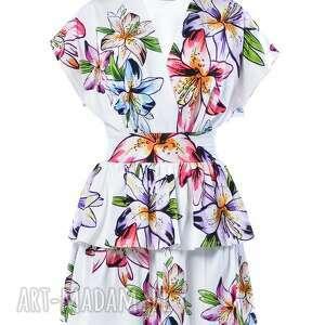 milita nikonorov angelika hypnotic lily, kwiaty, mini, nadruk ubrania