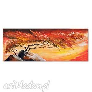 samotne drzewo 2, nowoczesny obraz ręcznie malowany, obraz, nowoczesny, drzewo,
