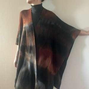 handmade płaszcze elegancki wełniany kardigan/ponczo