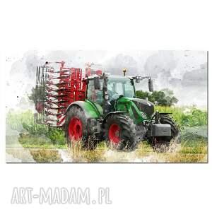obraz traktor 6 -60x30cm na płótnie ciągnik, obraz, traktor, designe