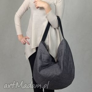 torebki hobo pikowana sir elton - popiel dark, torba, torebka, pikowana, pikówka