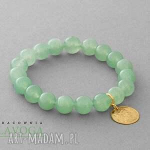 Jade with pendant in pistachio. - ,jadeit,zawieszka,moneta,