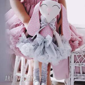 malina króliczek baletnica 45 cm, maskotka, króliczek, zabawka, królik