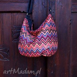 handmade na ramię mini sak etno vege czerń