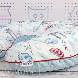 duża poduszka do karmienia samoloty, poduszka, karmienie, rogal, haft